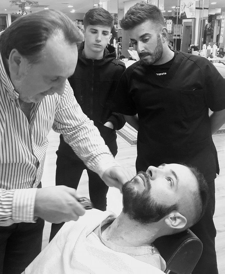 trabajos curso básico peluquería hombres